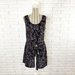 Liberty Love Floral High Low Tie Front Tank Top